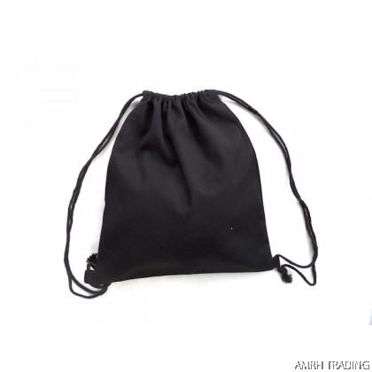 CODE: DS90    (Black Canvas Drawstring Bag)